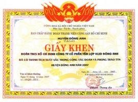 In Giấy Khen - In Bằng Khen